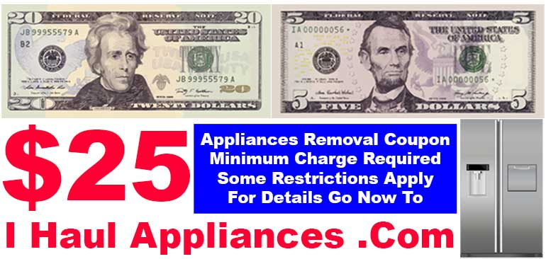 appliance removal $25 coupon i haul appliances