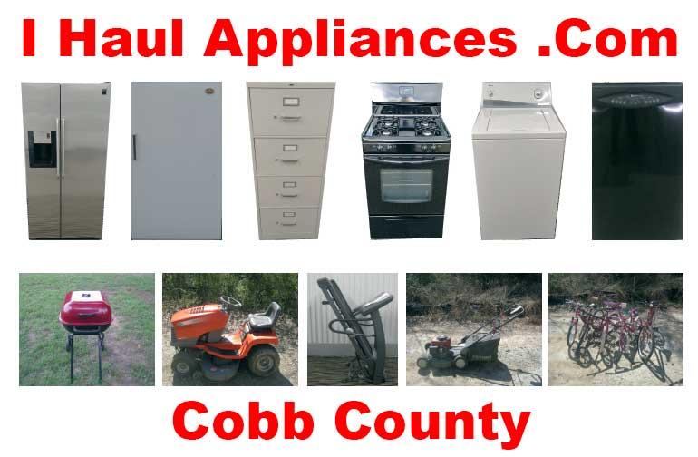appliance removal cobb county ga i haul appliances