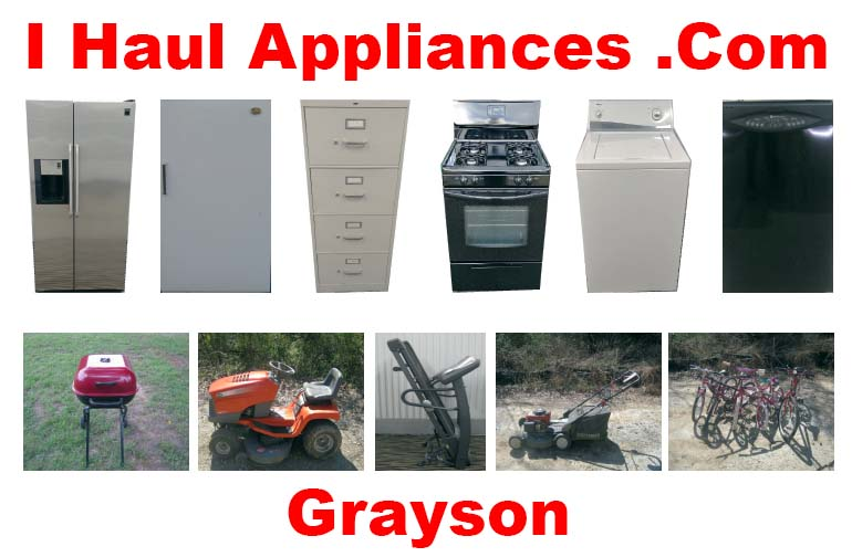appliance removal grayson ga i haul appliances