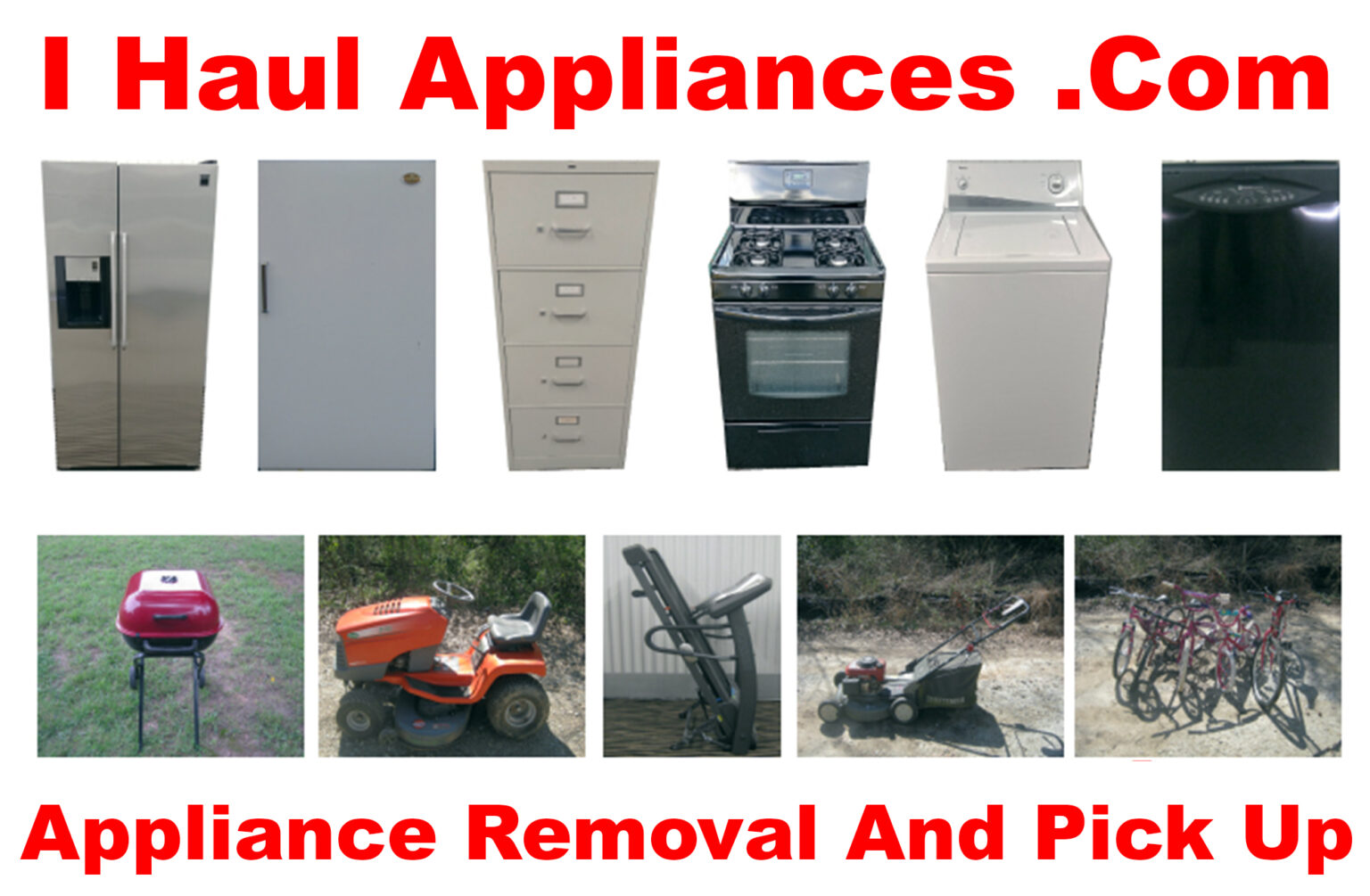 contact us 404-965-1963 i haul appliances